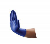 VersaShield EC (Extended Cuff) Blue Nitrile Gloves by Medline - 50 per Bx