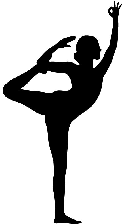 Silhouette of Dancer Yoga Pose - Yoga Blog - Three Minute Egg Yoga Props