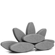 Egg Shaped Yoga Block Set Egg in Enough Hard-Boiled by Three Minute Egg ® in color Slate Gray