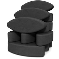Ergonomic yoga block set Teacher's Dozen by Three Minute Egg Ψ in color Charcoal Gray