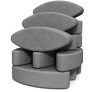 Ergonomic yoga block set Teacher's Dozen by Three Minute Egg Ψ in color Slate Gray