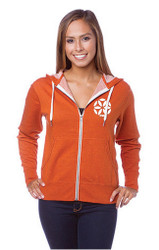 "Unisex Heather French Terry Zip Front Hoodie ""As in yoga, so in life."""