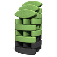 Biodegradable foam yoga block set Studio Starter Yin Yang by Three Minute Egg ® in colors Green and Charcoal Gray