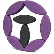 Biodegradable foam yoga block set Egg Limbs of Yoga by Three Minute Egg ® in colors Purple and Charcoal Gray
