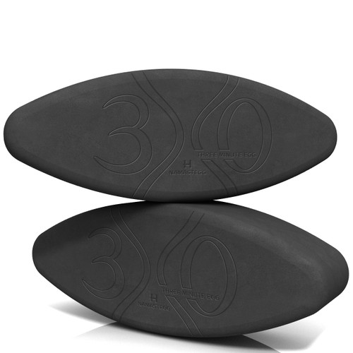 Yoga Blocks - Set of 2 Yoga Eggs by Three Minute Egg ® in color Charcoal Gray - Hard-Boiled