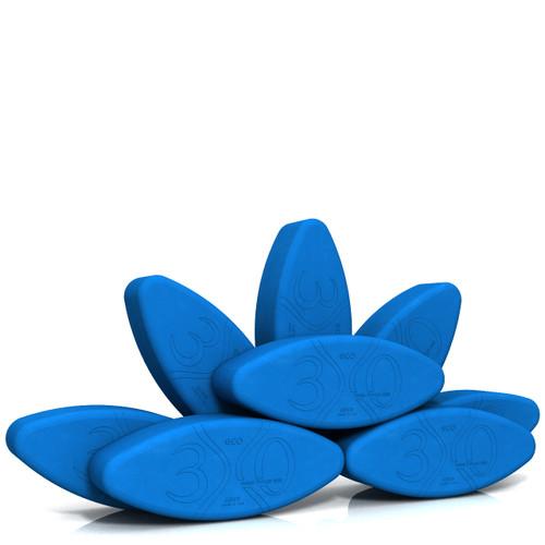 Small Ergonomic Yoga Block - Yoga Eggs by Three Minute Egg - Set of 8 - Multipurpose - ECO - Blue