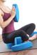 Ergonomic yoga blocks by Three Minute Egg in Sukhasana, Easy Seated Pose