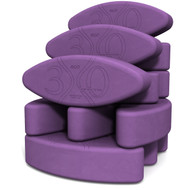Biodegradable foam yoga block set Teacher's Dozen by Three Minute Egg ® in color Purple