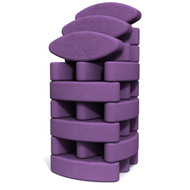 Biodegradable foam yoga block set Studio Starter by Three Minute Egg ® in color Purple