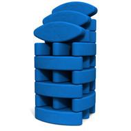Biodegradable foam yoga block set Studio Starter by Three Minute Egg ® in color Blue