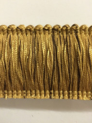"2"" BRUSH FRINGE-2/8-12      BROWN & ANTIQUE GOLD"