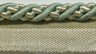 "3/8"" ROUND CORD EDGE WITH LIP-3/39-3         (Aqua Blue & Beige)"