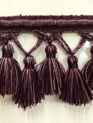 "3.5"" TASSEL FRINGE -56/29-27 PLUM & PURPLE"