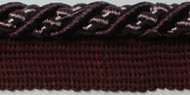 "3/8"" ROUND CORD EDGE WITH LIP-3/29-27         (Plum & Lilac)"