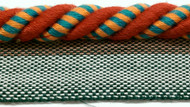 "3/8""  COTTON ROUND CORD EDGE CE-3/44-30-49        TURQUOSE BLUE,RED & AMBER"