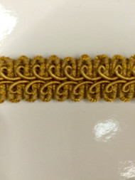 "5/8"" GIMP HEADER-14/12              ANTIQUE GOLD"