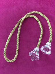 "24"" CRYSTAL CURTAIN TIEBACK-1/12     GOLD"