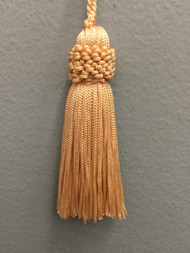"3"" CHAINETTE KEY TASSEL-1/2                  CREAM"