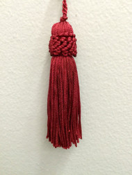 "3"" CHAINETTE KEY TASSEL-1/32              CRANBERRY"