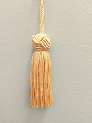 "3"" PRETZEL KNOT HEAD CHAINETTE KEY TASSEL-1/2"