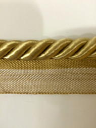 "1/2"" ROUND CORD EDGE WITH LIP-CE-L/12           CHAMPAGNE"