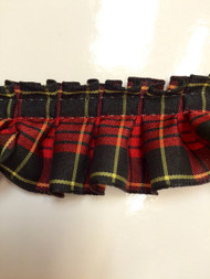 "1.5"" BOX PLEAT EDGE/1055     BLACK,RED & YELLOW"