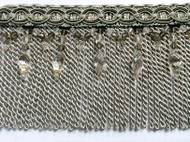 "6"" BULLION TASSEL FRINGE-32/50          SILVER/GREY & BLACK"