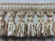 "4.25"" French Chanille Tassel fringe    TF-72/2      Cream"
