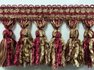 "4.25"" French Chanille Tassel fringe    TF-72/32       cranberry"