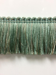 "1.75"" Brush Fringe Trim Extra  BRF-3/39-4  (Green & Taupe)"
