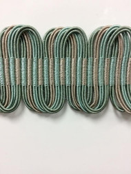 "1 5/8"" Fancy Gimp Header  H-69/39-4  (Green & Taupe)"