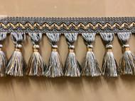 "3.5"" Tassel Fringe (French blue & beige) TF-5/41-3"