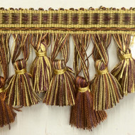 "3.5"" TASSEL FRINGE -42/9-53-29    DARK BROWN,CHAMPAGNE & PLUM"