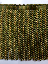 "6"" BULLION FRINGE-2/17-11       LODEN GREEN & GOLD"