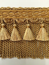 "6"" BULLION TASSEL FRINGE-1/11-12       LIGHT GOLD  & ANTIQUE GOLD"