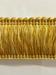 """2"""" BRUSH FRINGE-1/10-11     YELLOW & GOLD"""