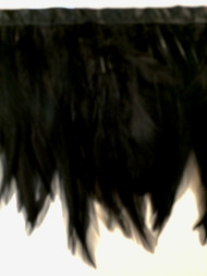 "6"" FEATHER FRINGE-4/47                     SOLID BLACK"