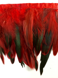 "7"" FEATHER GRINGE-7/51-30       RED,GREEN & BLACK"