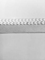 "1/4"" FLAT LEATHERLIKE BRAIDED CORD EDGE-L-3/1           WHITE"