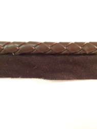 "5/16"" Round Leatherlike Braid Cord Edge.    L-5/9    Brown"