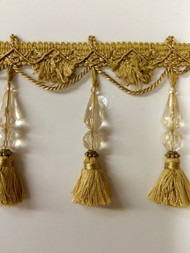 "4.5"" TASSEL FRINGE -44/12          ANTIQUE GOLD"