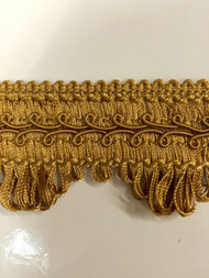 "1.75"" GIMP HEADER-58/12              ANTIQUE GOLD"