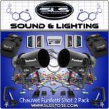 Chauvet DJ Funfetti Shot Confetti Cannon 2 Pack + Extras + 5 Confetti!