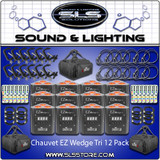 Chauvet DJ EZ Wedge Tri Battery Operated 12 Pack + Extras!