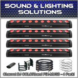 (4) Chauvet DJ COLORband PiX-MUSB Moving LED RGB Strip Light Blinder/Wall Wash