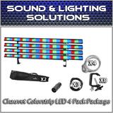 (4) Chauvet DJ Colorstrip LED Linear Wash Package