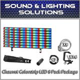 (8) Chauvet DJ Colorstrip LED Linear Wash Package