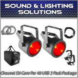 (2) Chauvet DJ COREpar 40 USB Core Par 40W USB COB Package
