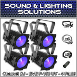 (4) Chauvet DJ EVE P-150 UV DMX Black Light w/ 40 Blacklight UV LED