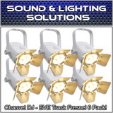 (6) Chauvet DJ EVE TF-20 LED Par Wash Stage Light Fresnel Fixture - White